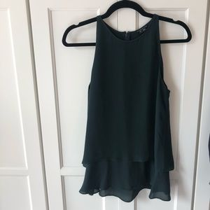 Theory Dark Green Top size Small NWOT